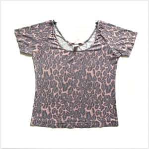 Victoria's Secret Short Sleeve Animal Print Shirt